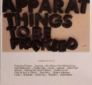 Apparat: Things to Be Frickled