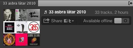 33 asbra låtar 2010